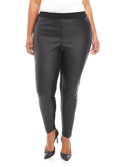 New Directions® Plus Size Ponte Leggings