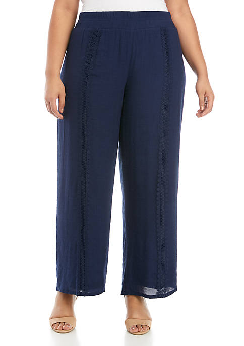 Plus Size Solid Solid Palazzo Pants