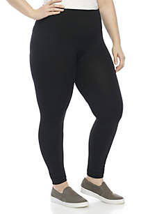 9076d0b721294 ... New Directions® Plus Size Solid Seamless Leggings
