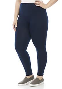 Plus Size Solid Seamless Leggings