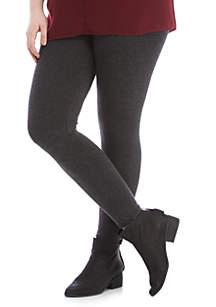 Plus Size Heathered Cozy Leggings