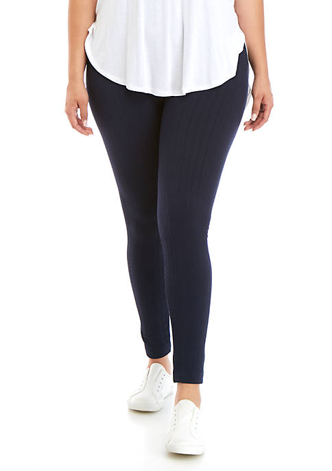 Plus Size Cozy Cable Leggings