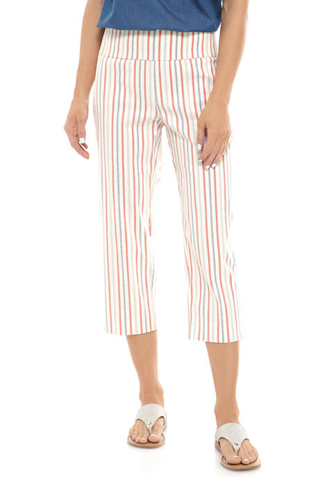 New Directions® Womens Millennium Striped Pull On Pants