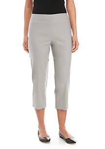 f3acb50a2fa ... New Directions® Pull On Stretch Comfort Capris Pants