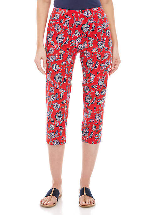 New Directions® Millenium Pull On Printed Capris