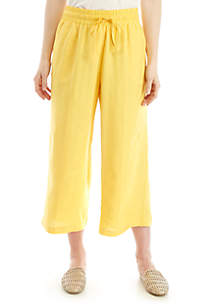 New Directions® Washed Twill Wide Leg Crop Pants