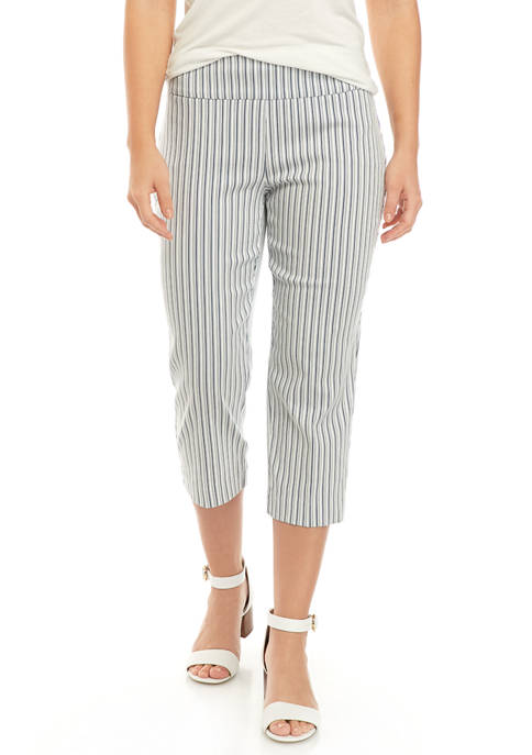 New Directions® Womens Millennium Stripe Pull On Capri