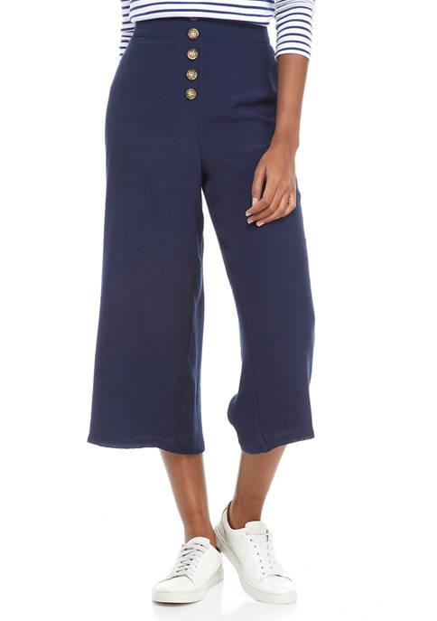 New Directions® Petite Wide Leg Linen Like Pants