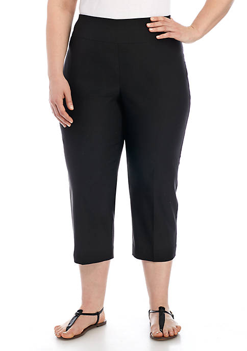 New Directions® Plus Size Pull-on Solid Pants