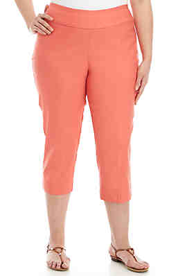 022e63e652fcd New Directions® Plus Size Pull-on Solid Pants ...
