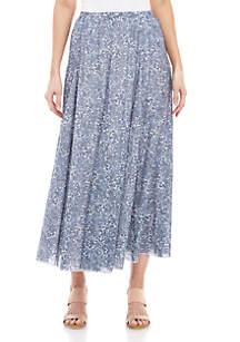 New Directions® Linen Slub Maxi Skirt