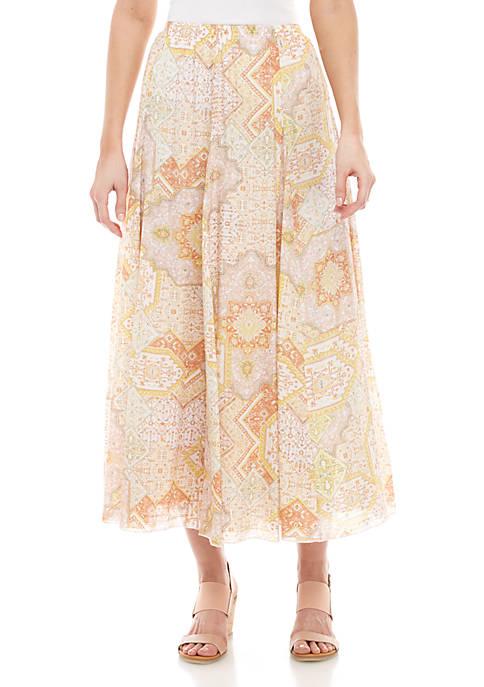 Linen Slub Maxi Skirt