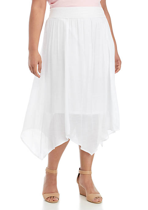 Plus Size Solid Body Skirt