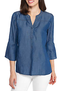 Chambray Popover Tunic