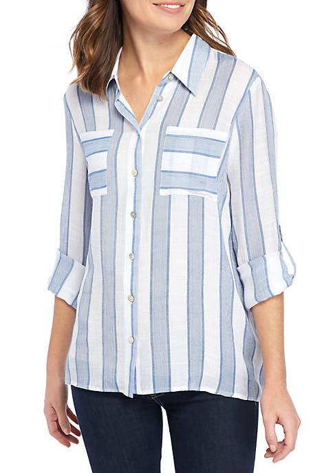Striped Slub Shirt
