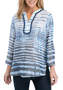 New Directions® Tie Dye Top with Crochet Bib