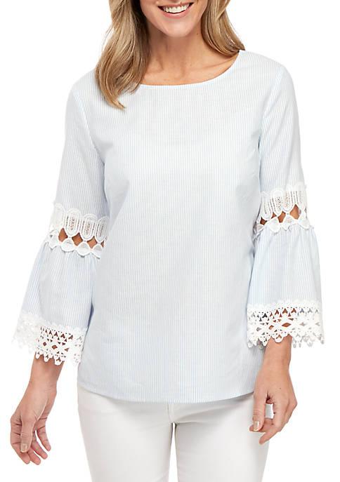 New Directions® 3/4 Bell Sleeve Yarn Dye Stripe