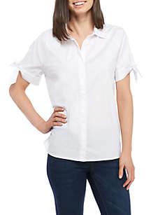 Tie-Dye Short Sleeve Solid Stripe Shirt