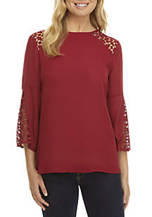 Inset Lace Top