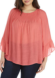 757a00f1fcd81 ... New Directions® Plus Size 3 4 Sleeve Solid Slub Top