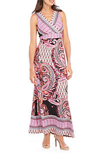 New Directions® Sleeveless Maxi Dress with Heat Seal Design
