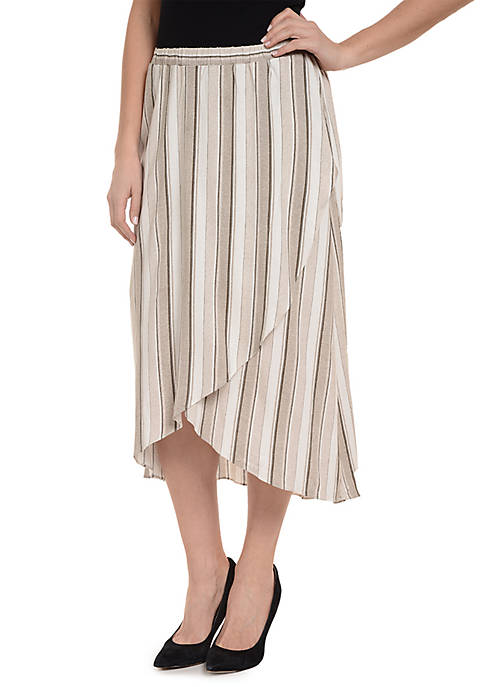 New Directions® Faux Wrap Midi Skirt