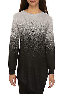 Long Sleeve Lurex Ombre Sweater