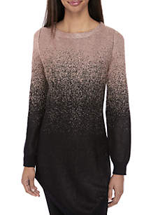 Long Sleeve Lurex Ombre Sweater