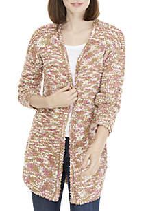 Long Sleeve Multi Boucle Cardigan