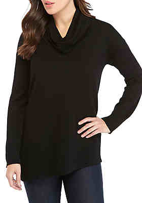 New Directions® Long Sleeve Asymmetrical Cowl Neck Pullover Sweater ... 67d84409b