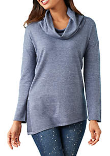 Long Sleeve Asymmetrical Hem Pullover