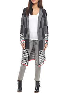 Petite Plaid Coatigan Sweater