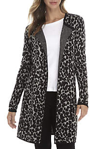 Petite Animal Print Coatigan
