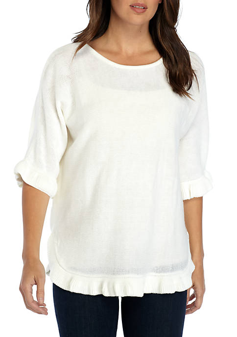 New Directions® Poncho with Ruffle Hem