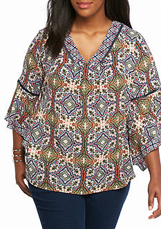 New Directions® Plus Size Woven Top
