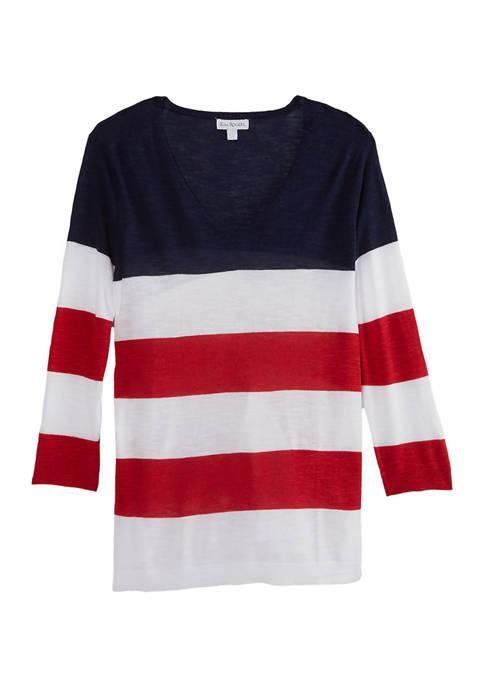 Kim Rogers® Womens Flag Sweater