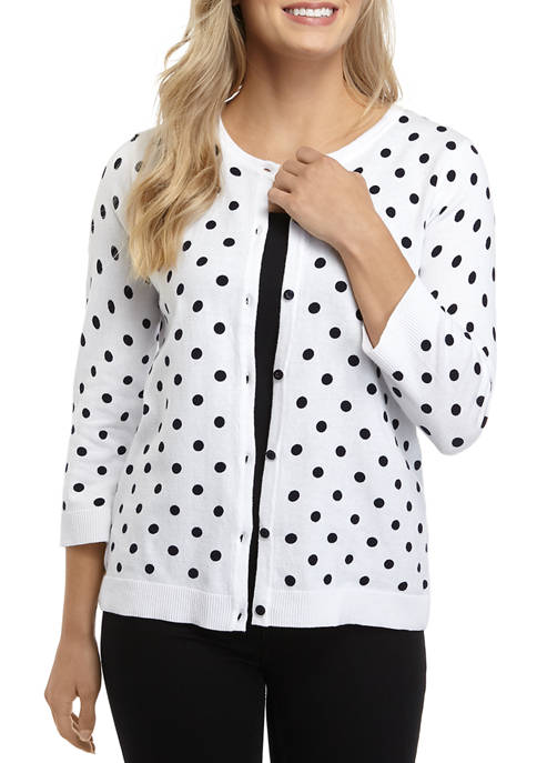 Womens Dotted Essential Cardigan