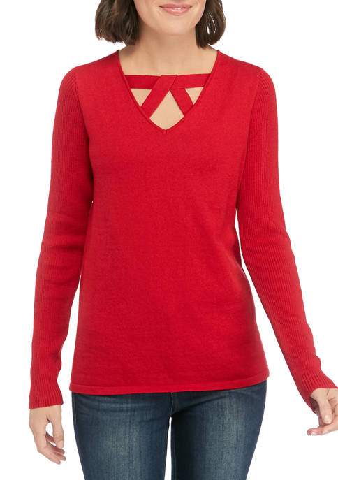 Kim Rogers® Womens Long Sleeve Must Have Sweater