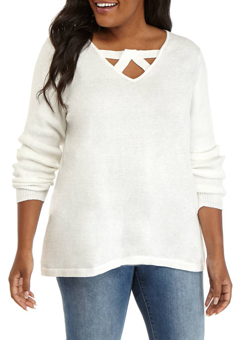 Plus Size Long Sleeve Must Have Sweater