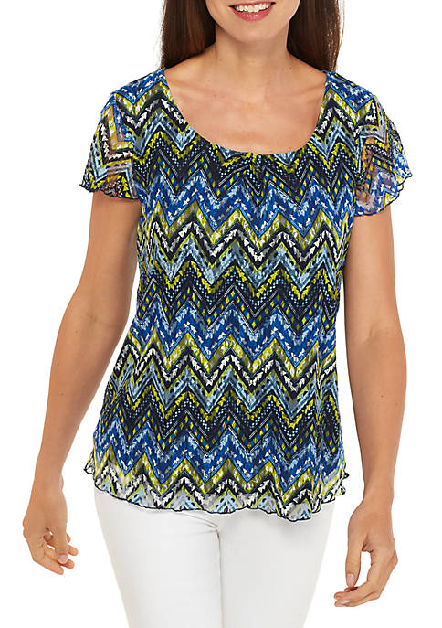 Kim Rogers® Plus Size Sleeveless Tank with Ruffle