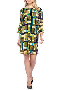 Bell Sleeve Allover Printed Dress