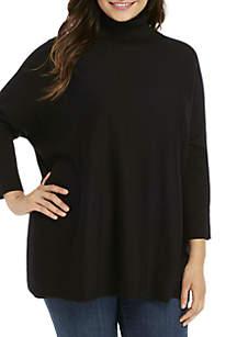Kim Rogers® Plus Size Button Poncho
