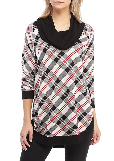 Kim Rogers® Cowl Neck Poncho Sweater
