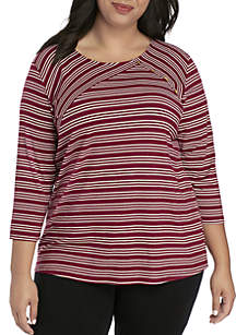 Plus Size Ribbed Criss Cross Top