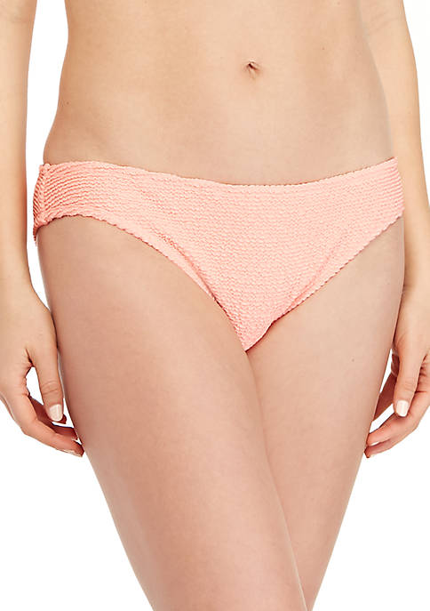 TRUE CRAFT Pucker Up Texture Hipster Swim Bottoms