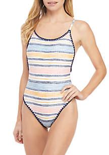 TRUE CRAFT Summer Stripe 1-Piece Swimsuit