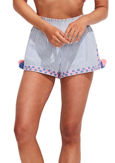 Seersucker Pull On Shorts