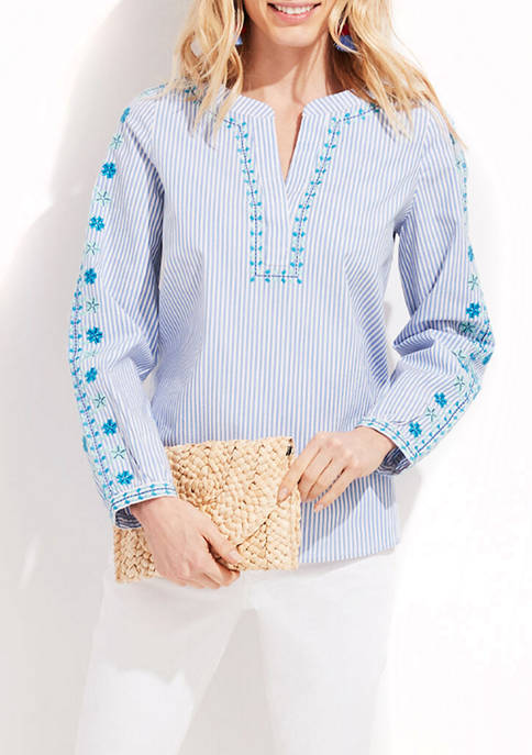 Pop Embroidered Top