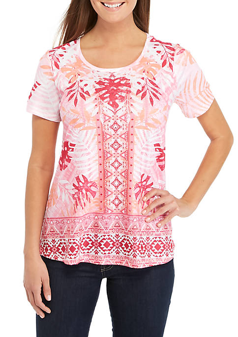 Kim Rogers® Short Sleeve Sublimated Swing Top