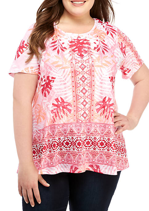 Kim Rogers® Plus Size Swing Top